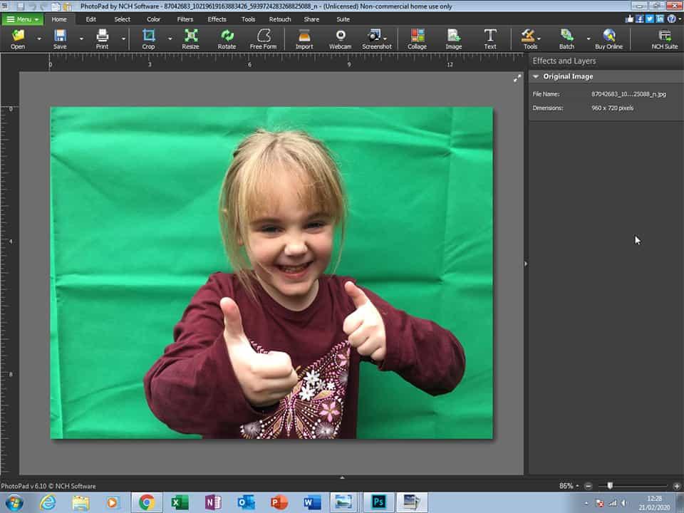 Photopad Tool for Editing Family Photos