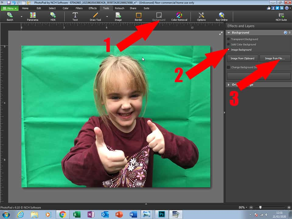 How to Edit Family Photos with Digital Background