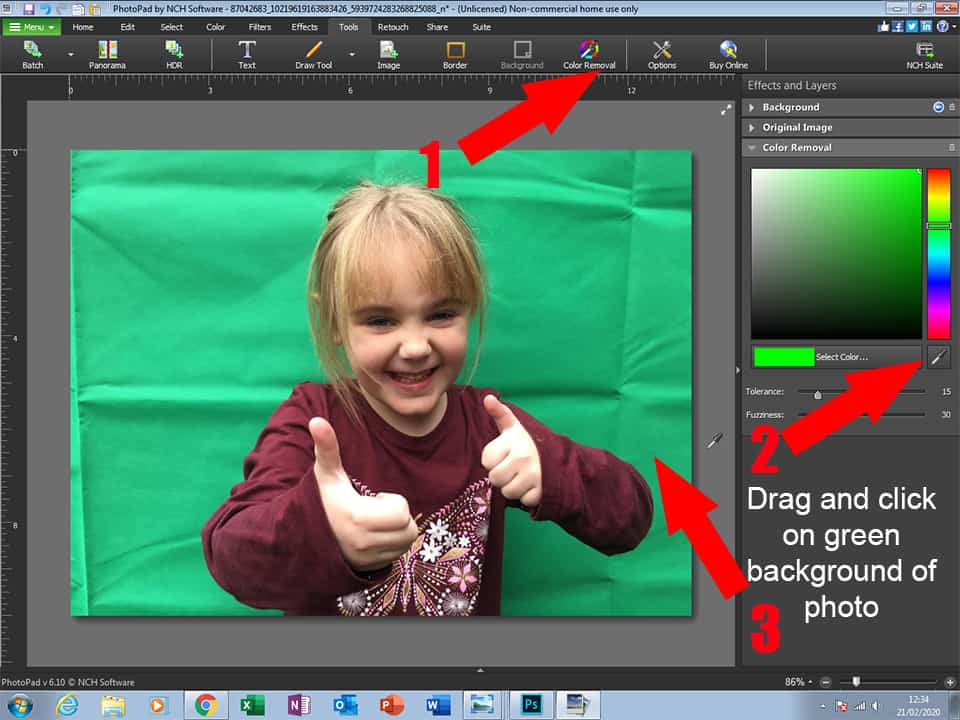 Edit Background in Family Photos