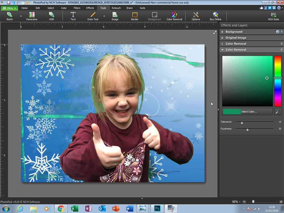 Family Photos Editing in Pixlr