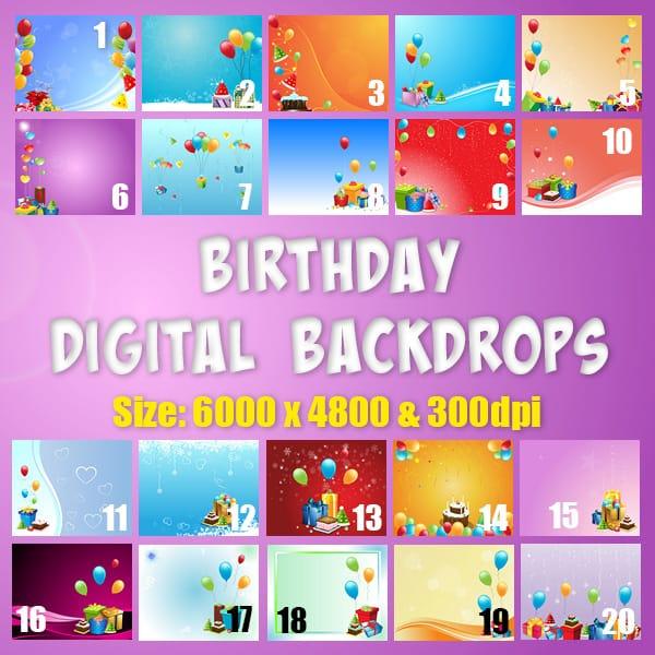Birthday Digital Backgrounds