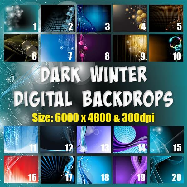 Dark Winter Free Digital Backgrounds