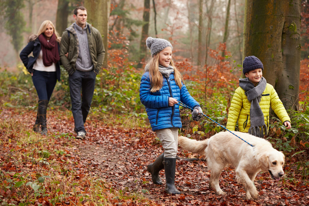 Family Outdoor Activities Dog Walking