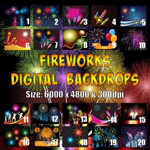 Fireworks digital backgrounds