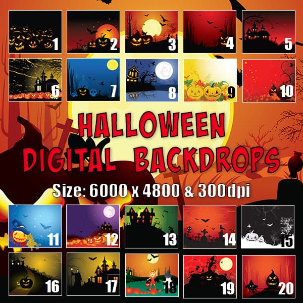Halloween Digital Background