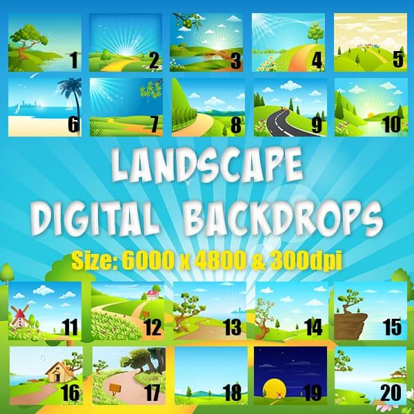 Landscape Digital Background