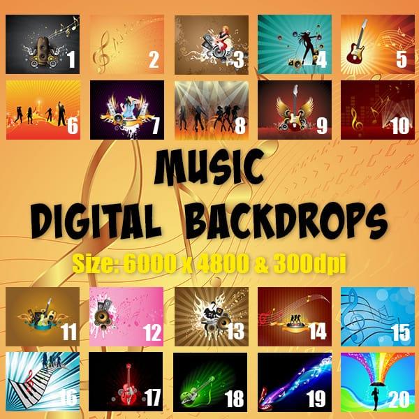 Music digital backgrounds