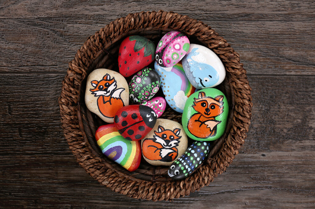 Colourful Rock Painting