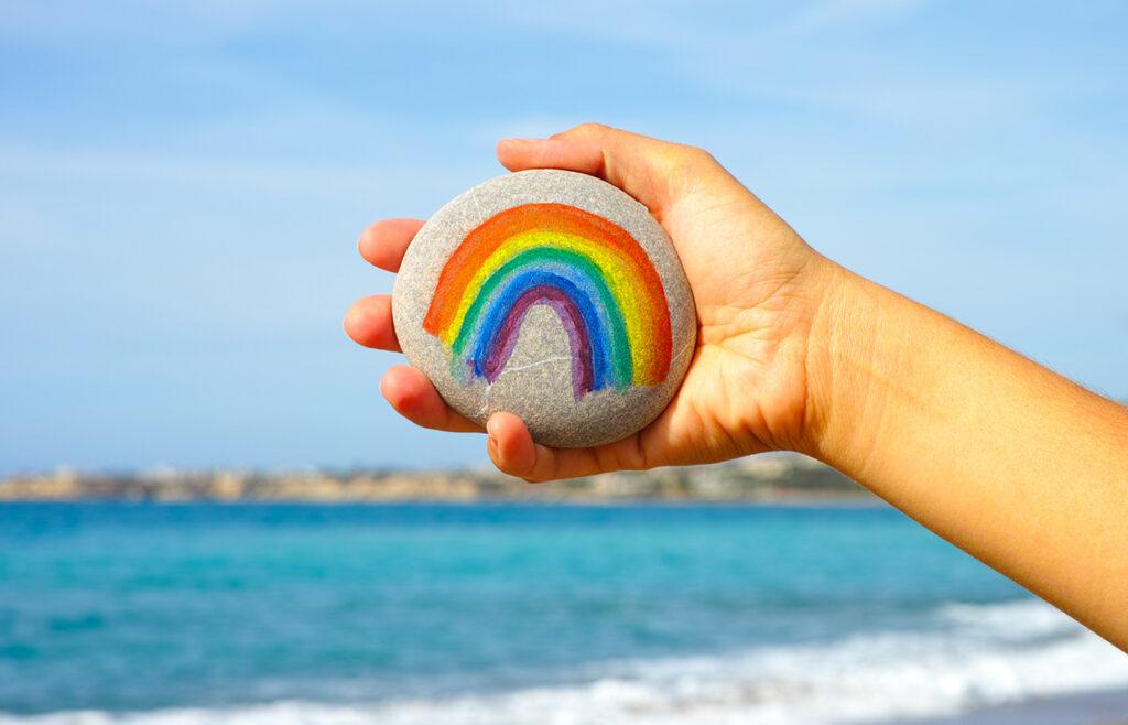 Rainbow Rock Painting