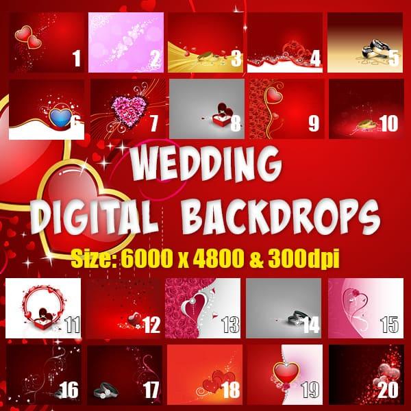 Wedding Digital Backdrops