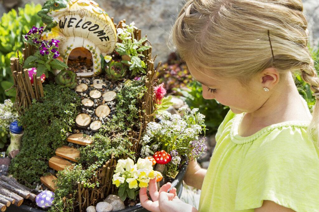 Happy Kids at Fairy Garden