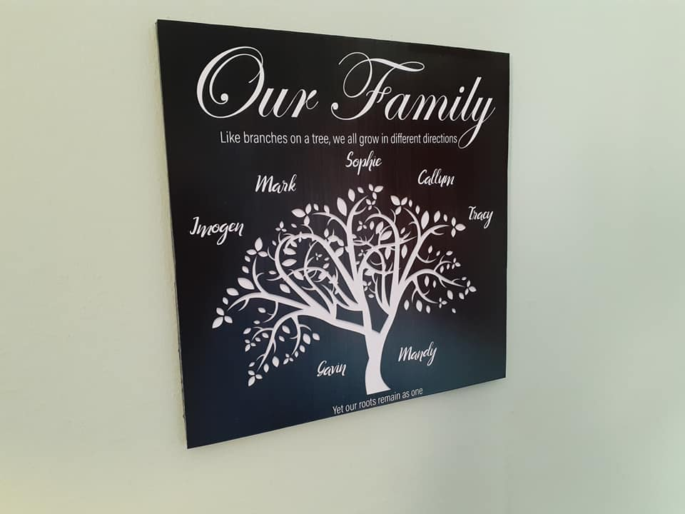 Personalised Family Tree Plaque is Ready