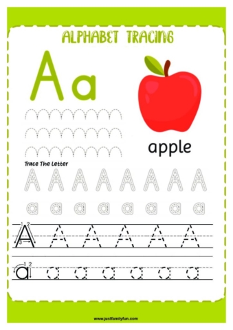 Alphabets_1-pdf-724x1024-640x480 Free Printable Trace The Alphabet Worksheets for Kids.