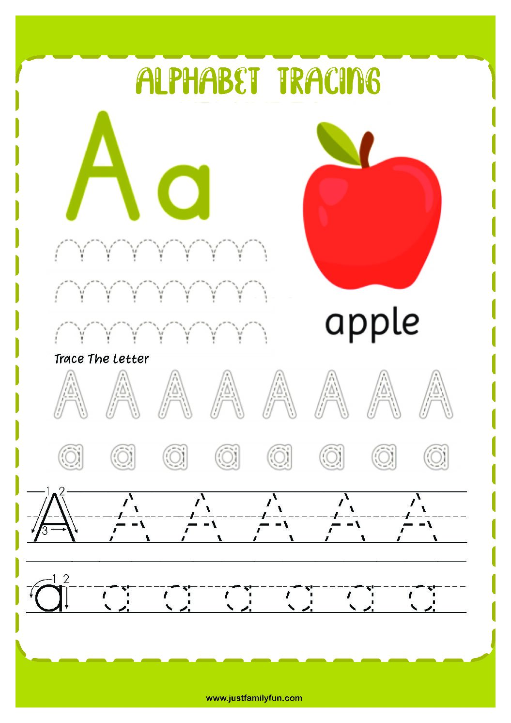 Alphabets_1-pdf Free Printable Trace The Alphabet Worksheets for Kids.