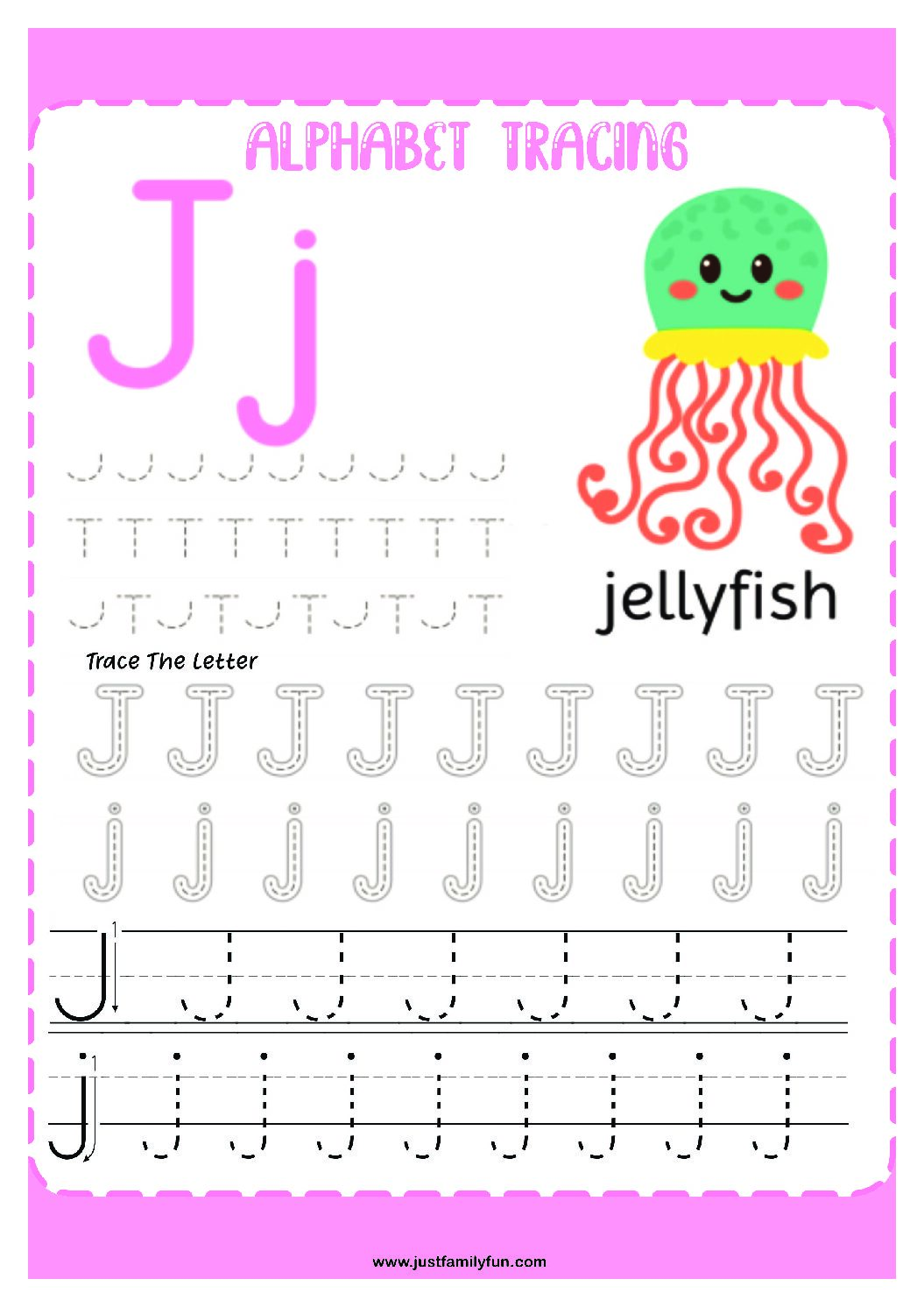 Alphabets_10-pdf Free Printable Trace The Alphabet Worksheets for Kids.