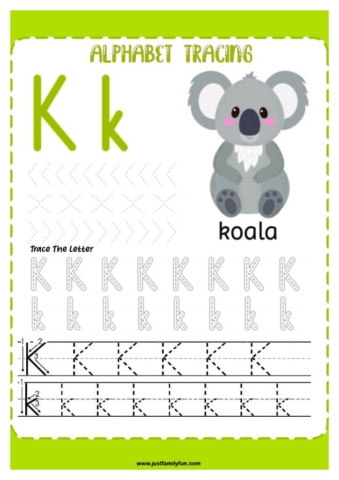 Alphabets_11-pdf-724x1024-640x480 Free Printable Trace The Alphabet Worksheets for Kids.