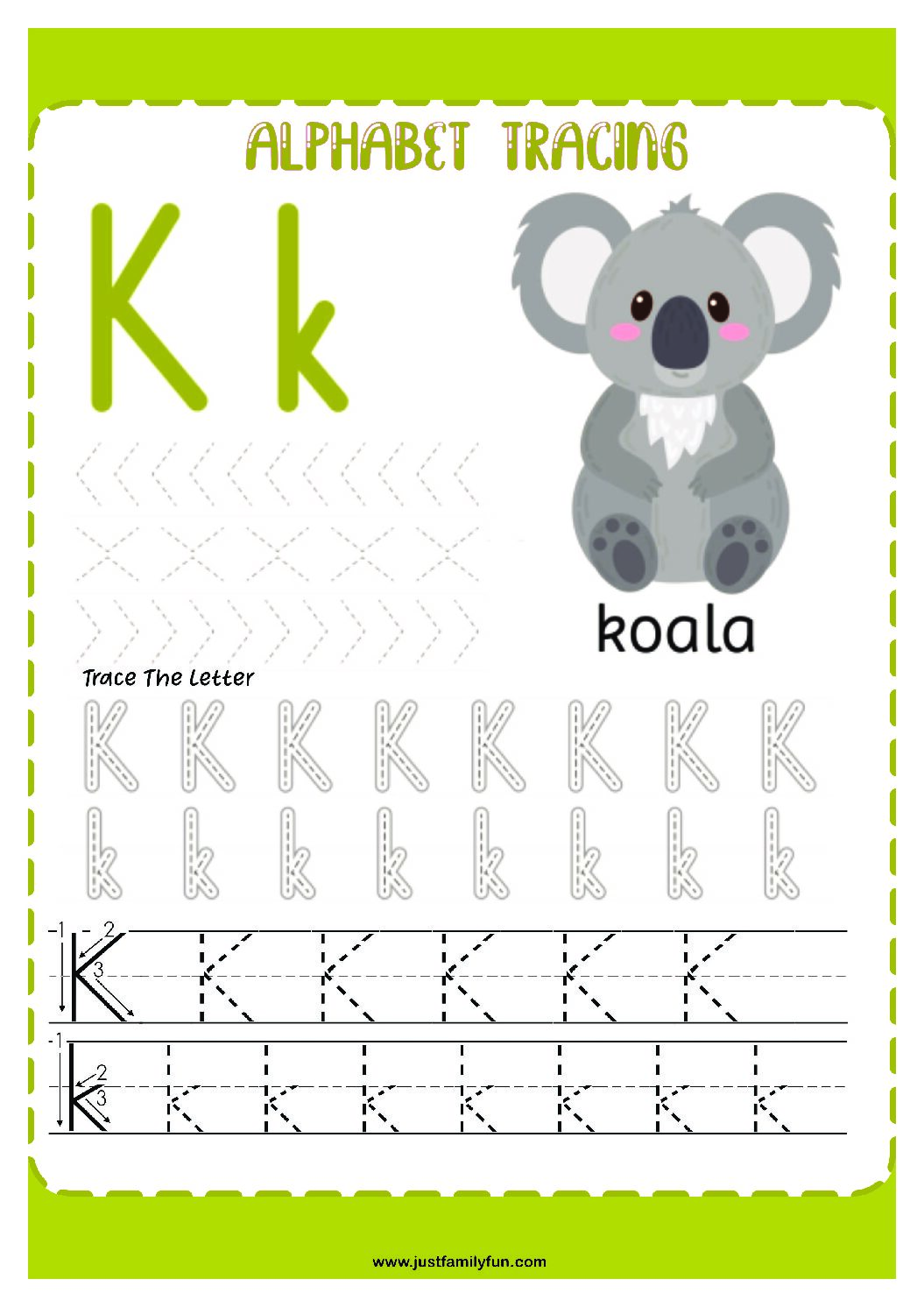 Alphabets_11-pdf Free Printable Trace The Alphabet Worksheets for Kids.