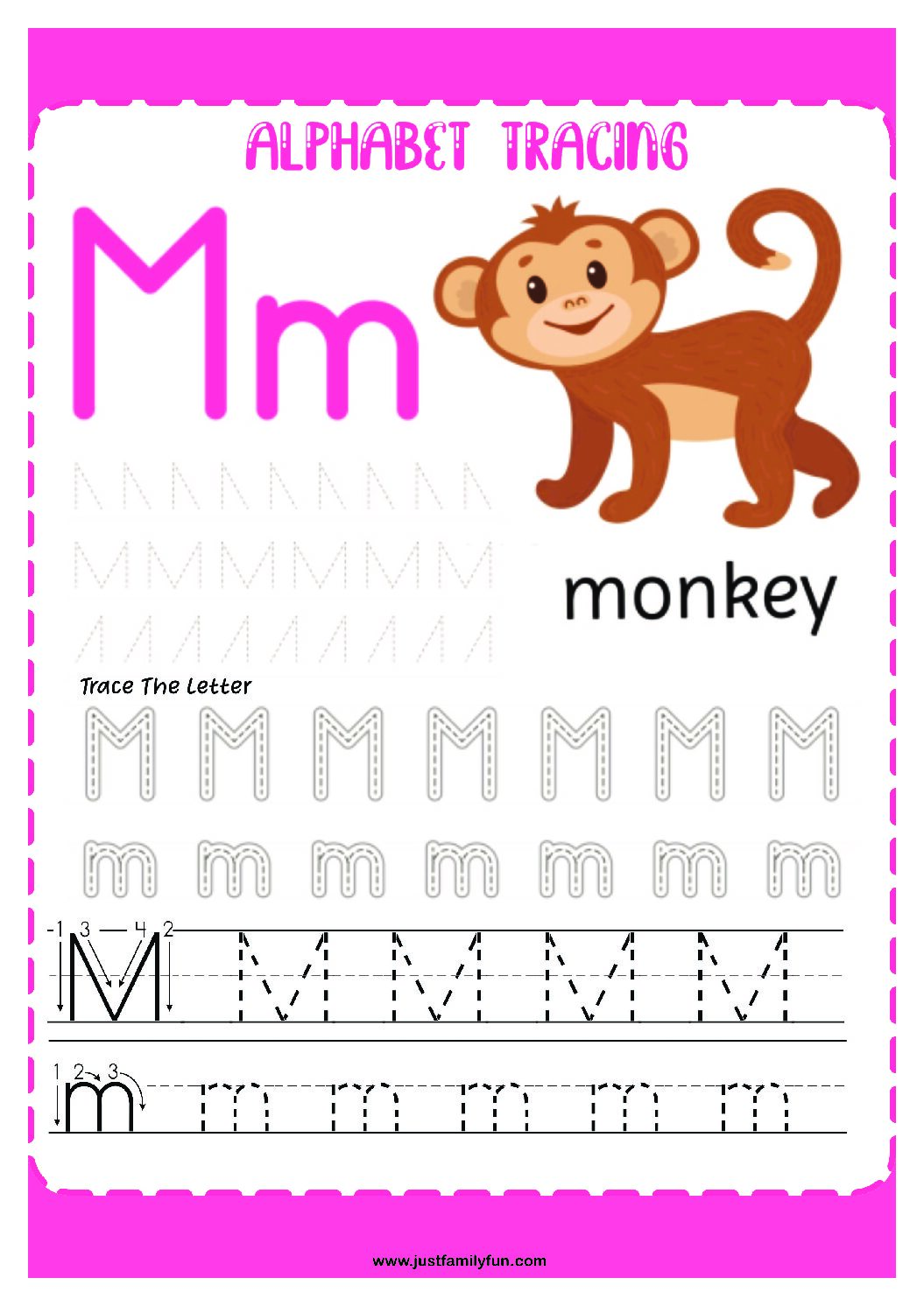 Alphabets_13-pdf Free Printable Trace The Alphabet Worksheets for Kids.