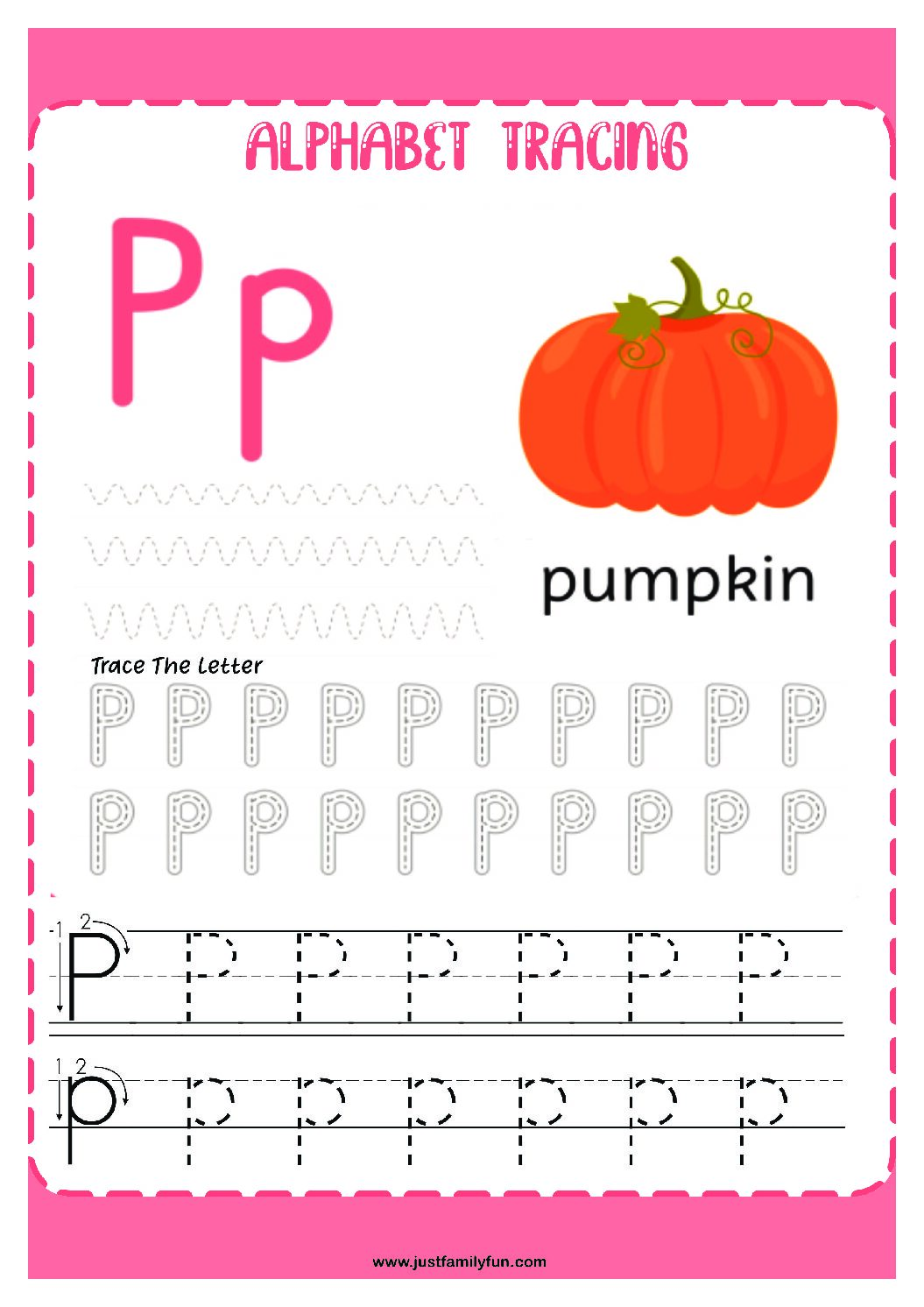 Alphabets_16-pdf Free Printable Trace The Alphabet Worksheets for Kids.