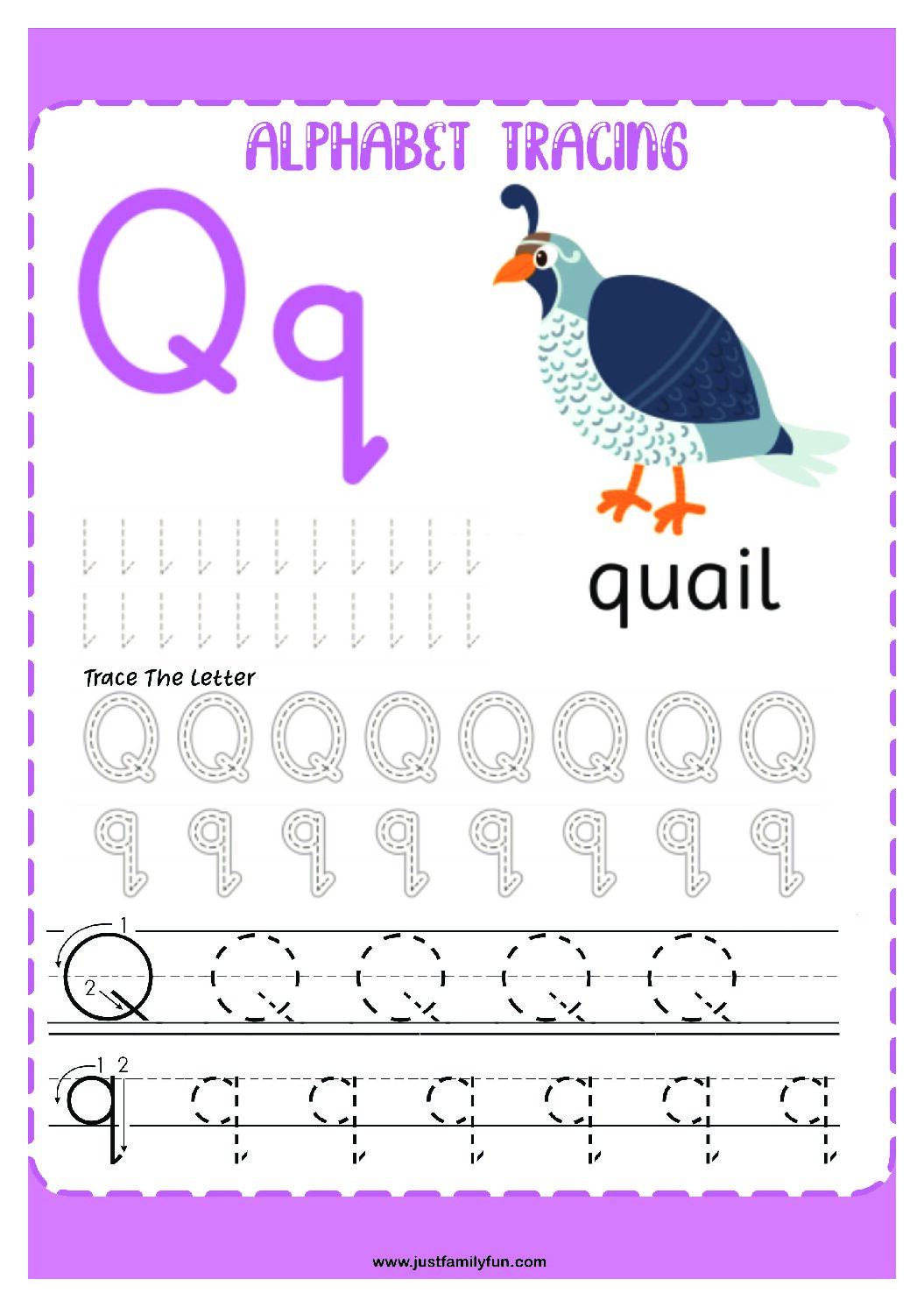 Alphabets_17-pdf Free Printable Trace The Alphabet Worksheets for Kids.
