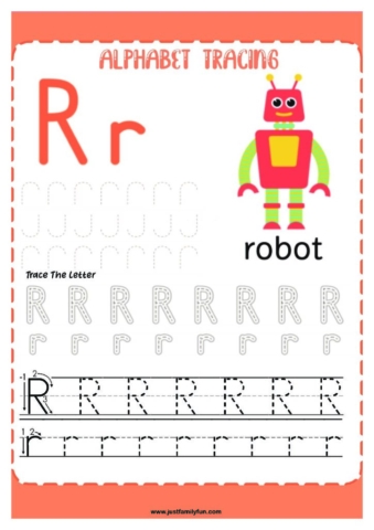 Alphabets_18-pdf-724x1024-640x480 Free Printable Trace The Alphabet Worksheets for Kids.