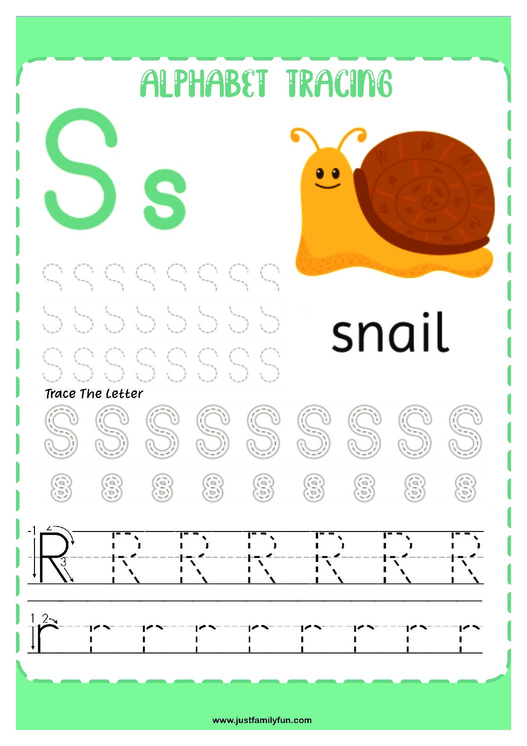 Alphabets_19-pdf Free Printable Trace The Alphabet Worksheets for Kids.