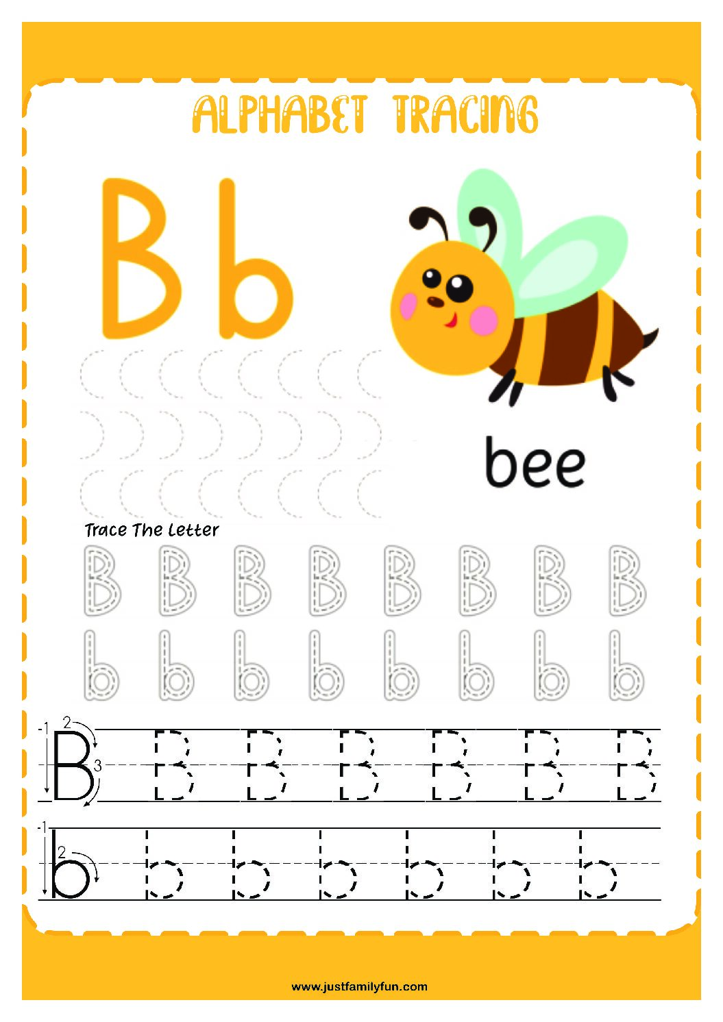 Alphabets_2-pdf Free Printable Trace The Alphabet Worksheets for Kids.