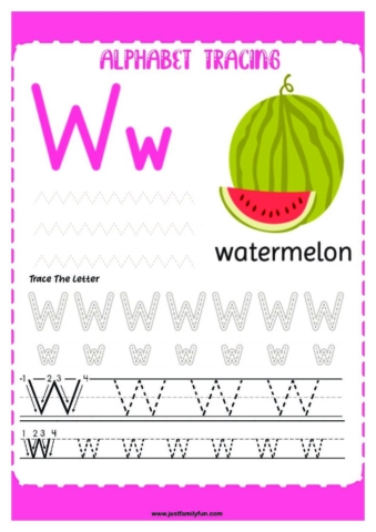 Alphabets_23-pdf-724x1024-640x480 Free Printable Trace The Alphabet Worksheets for Kids.