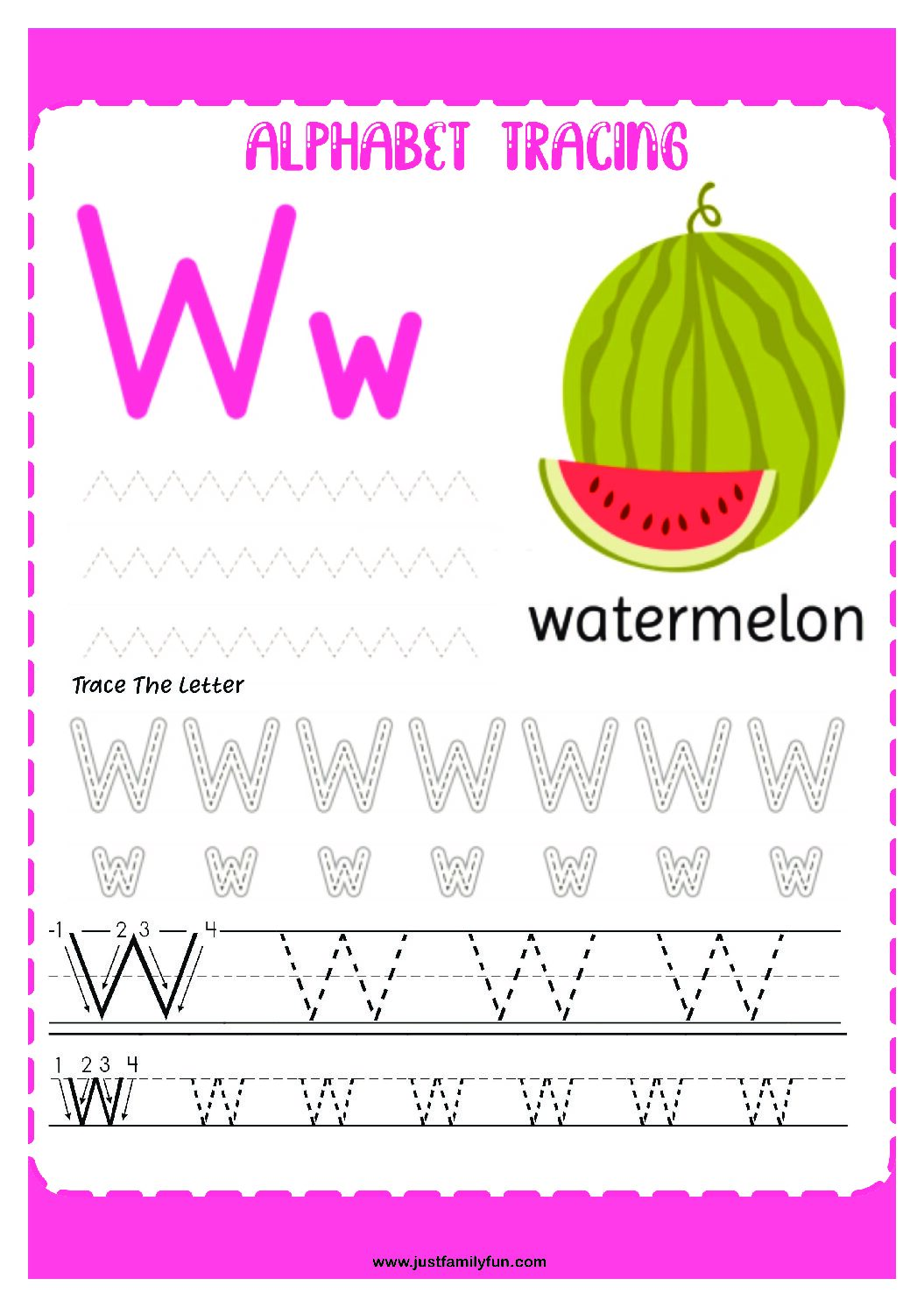 Alphabets_23-pdf Free Printable Trace The Alphabet Worksheets for Kids.