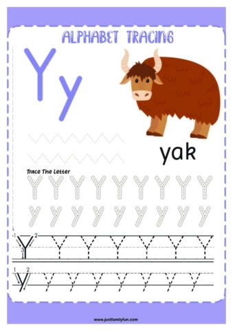 Alphabets_25-pdf-724x1024-640x480 Free Printable Trace The Alphabet Worksheets for Kids.