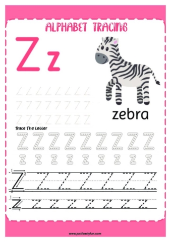 Alphabets_26-pdf-724x1024-640x480 Free Printable Trace The Alphabet Worksheets for Kids.