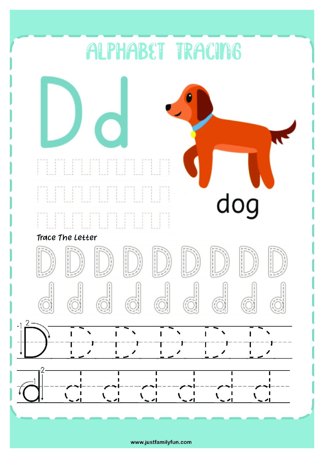 Alphabets_4-pdf Free Printable Trace The Alphabet Worksheets for Kids.