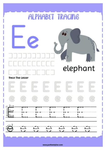 Alphabets_5-pdf-724x1024-640x480 Free Printable Trace The Alphabet Worksheets for Kids.