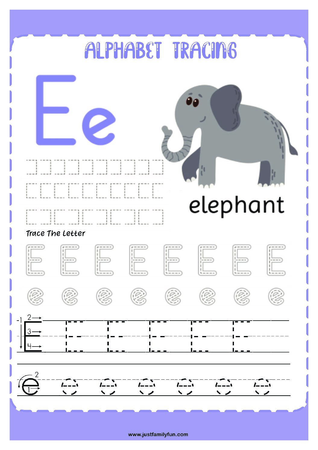 Alphabets_5-pdf Free Printable Trace The Alphabet Worksheets for Kids.