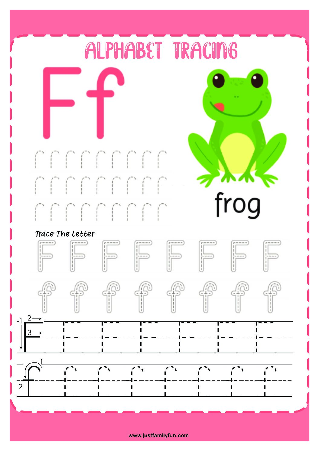 Alphabets_6-pdf Free Printable Trace The Alphabet Worksheets for Kids.