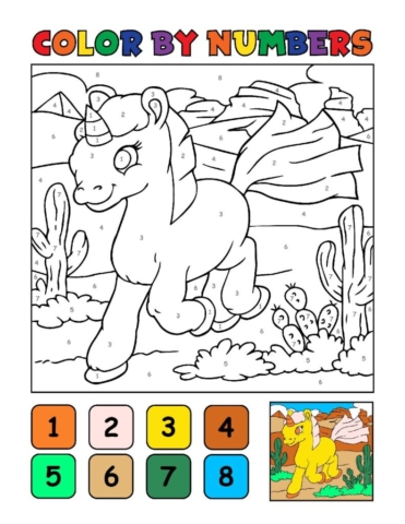 Color-by-Numbers-Kids_Unicorns-12-01-pdf-791x1024-640x480 Free Printable Unicorn Colouring Pages