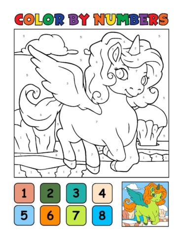 Color-by-Numbers-Kids_Unicorns-15-01-pdf-791x1024-640x480 Free Printable Unicorn Colouring Pages
