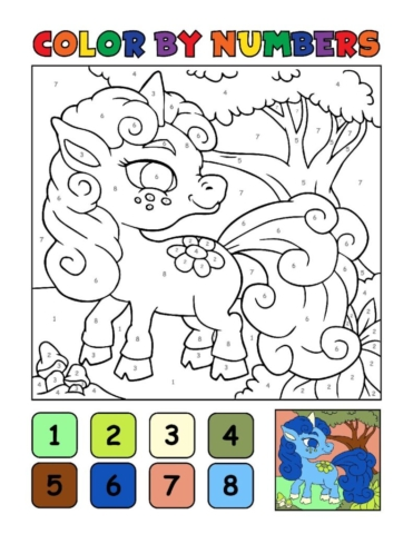 Color-by-Numbers-Kids_Unicorns-7-01-pdf-791x1024-640x480 Free Printable Unicorn Colouring Pages