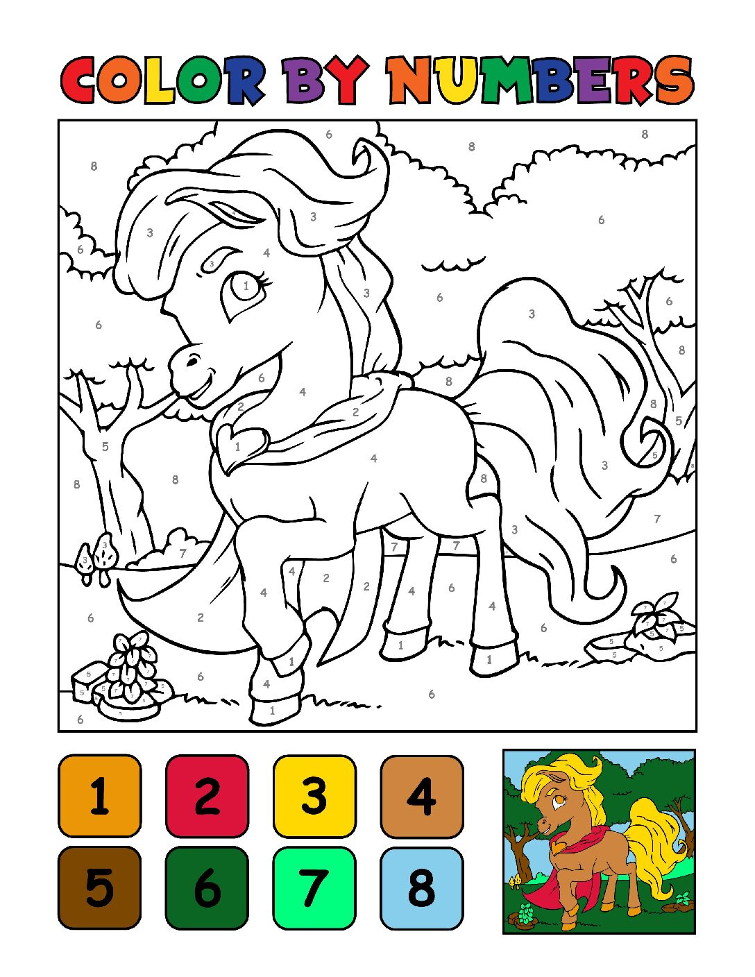 Color-by-Numbers-Kids_Unicorns-9-01-pdf Free Printable Unicorn Colouring Pages