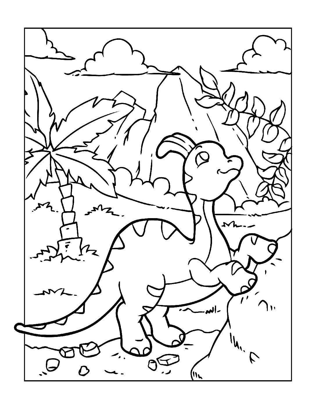 Coloring-Pages-Dinosaur-10-pdf Free Printable Dinasour Colouring Pages