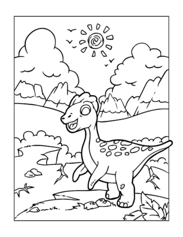 Coloring-Pages-Dinosaur-11-pdf-791x1024-640x480 Free Printable Dinasour Colouring Pages