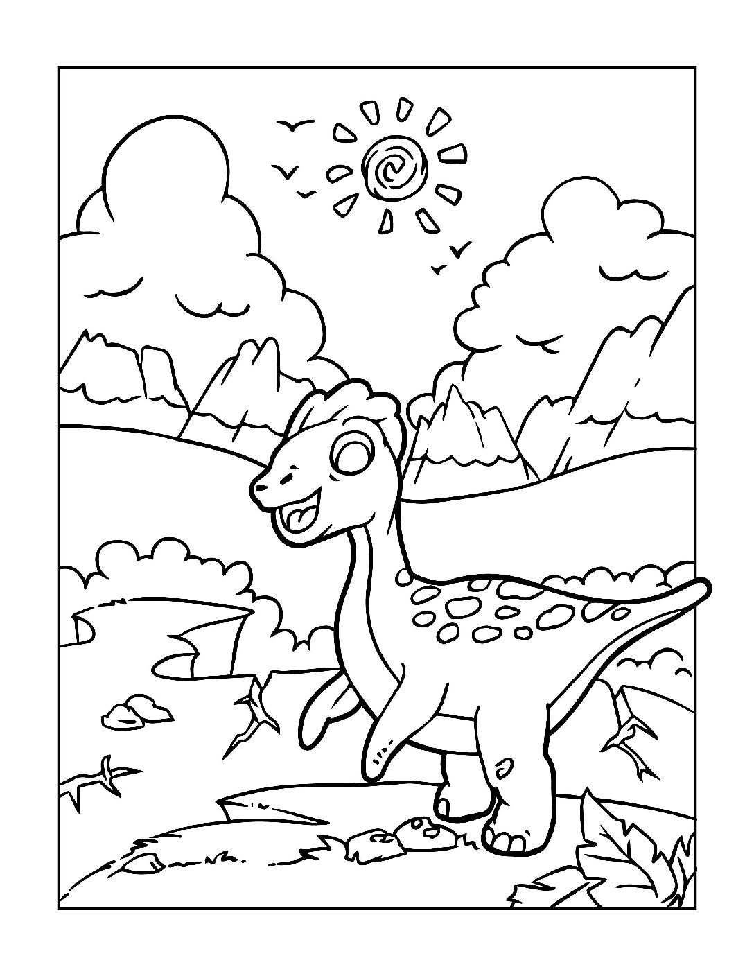 Coloring-Pages-Dinosaur-11-pdf Free Printable Dinasour Colouring Pages