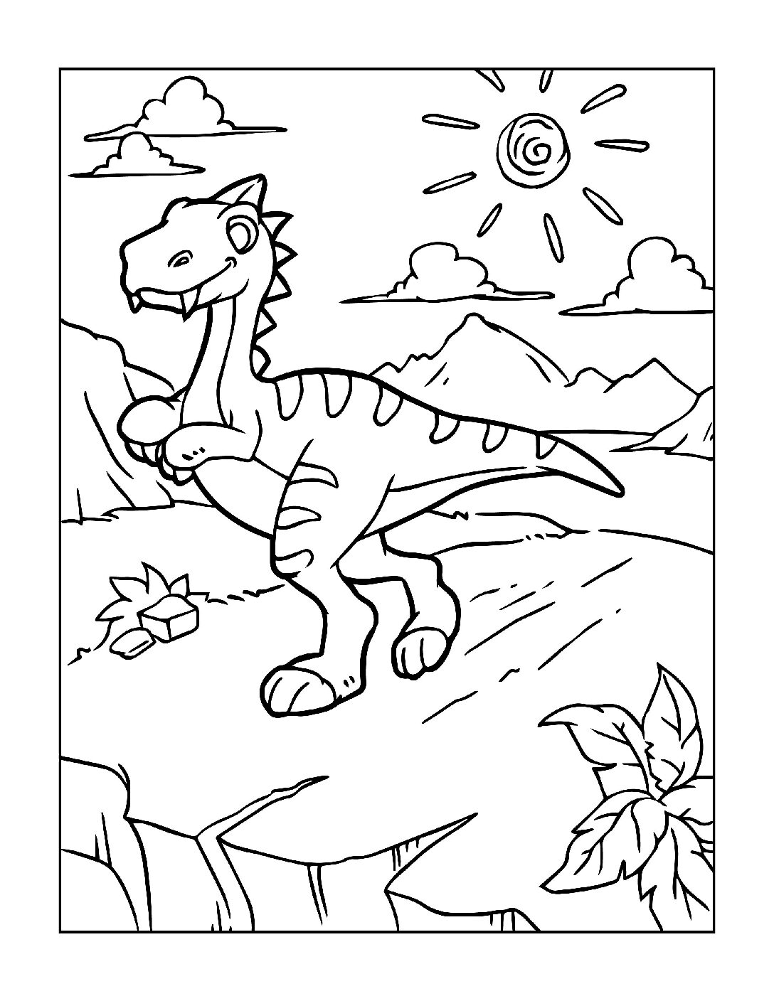 Coloring-Pages-Dinosaur-12-pdf Free Printable Dinasour Colouring Pages