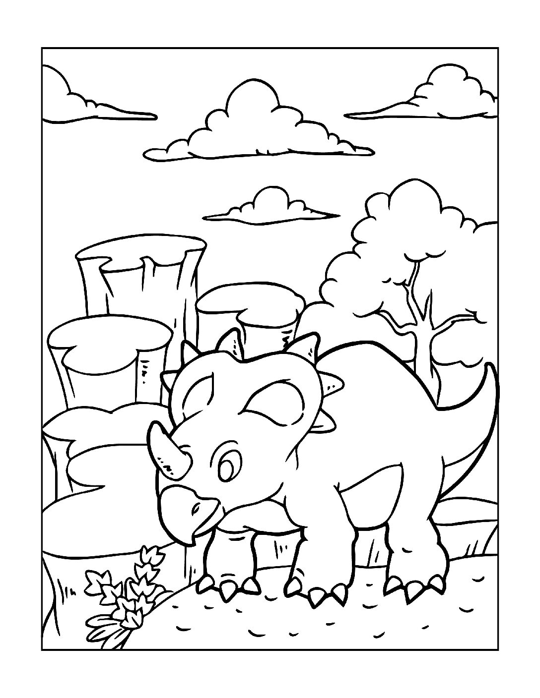 Coloring-Pages-Dinosaur-13-pdf Free Printable Dinasour Colouring Pages
