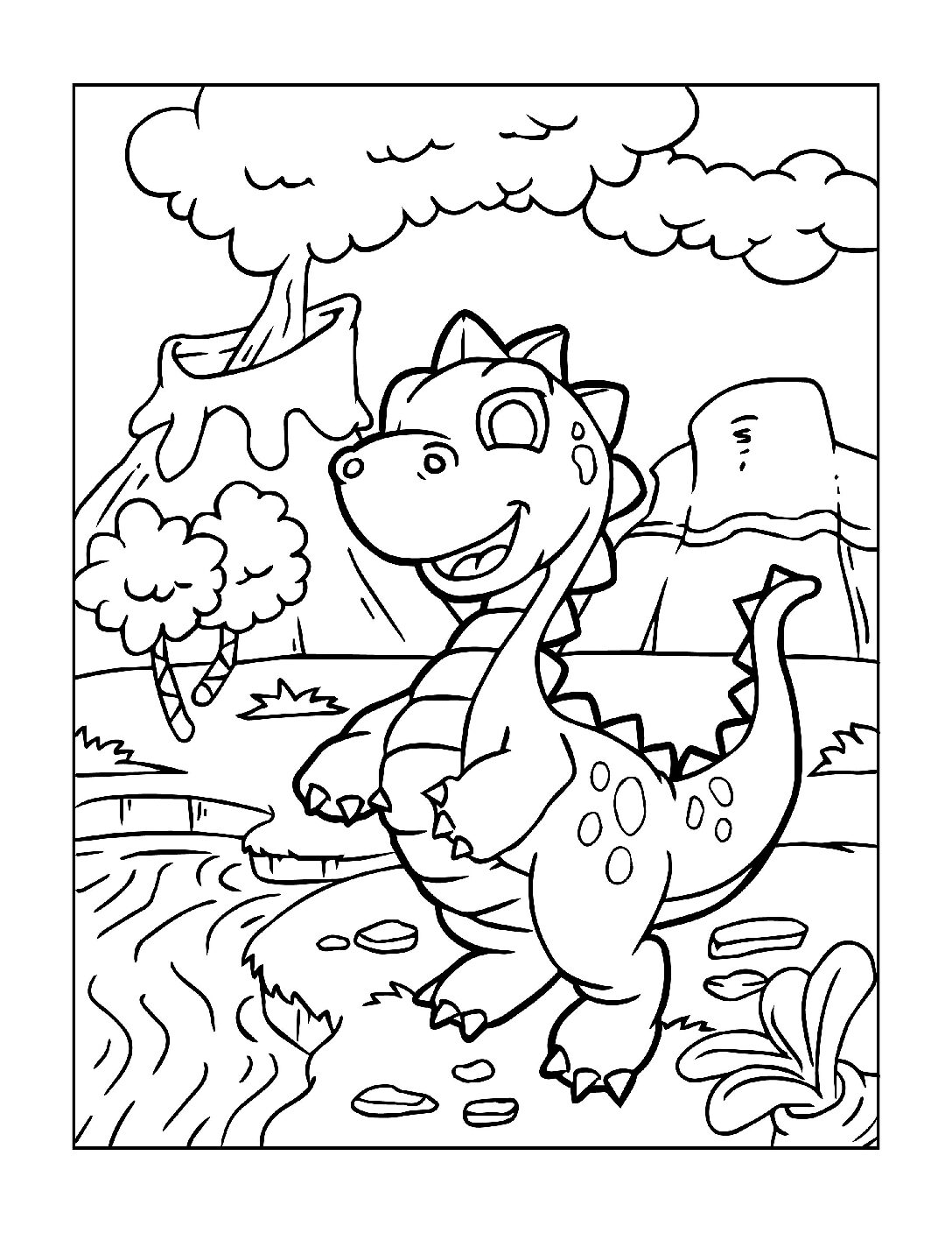 Coloring-Pages-Dinosaur-6-pdf Free Printable Dinasour Colouring Pages