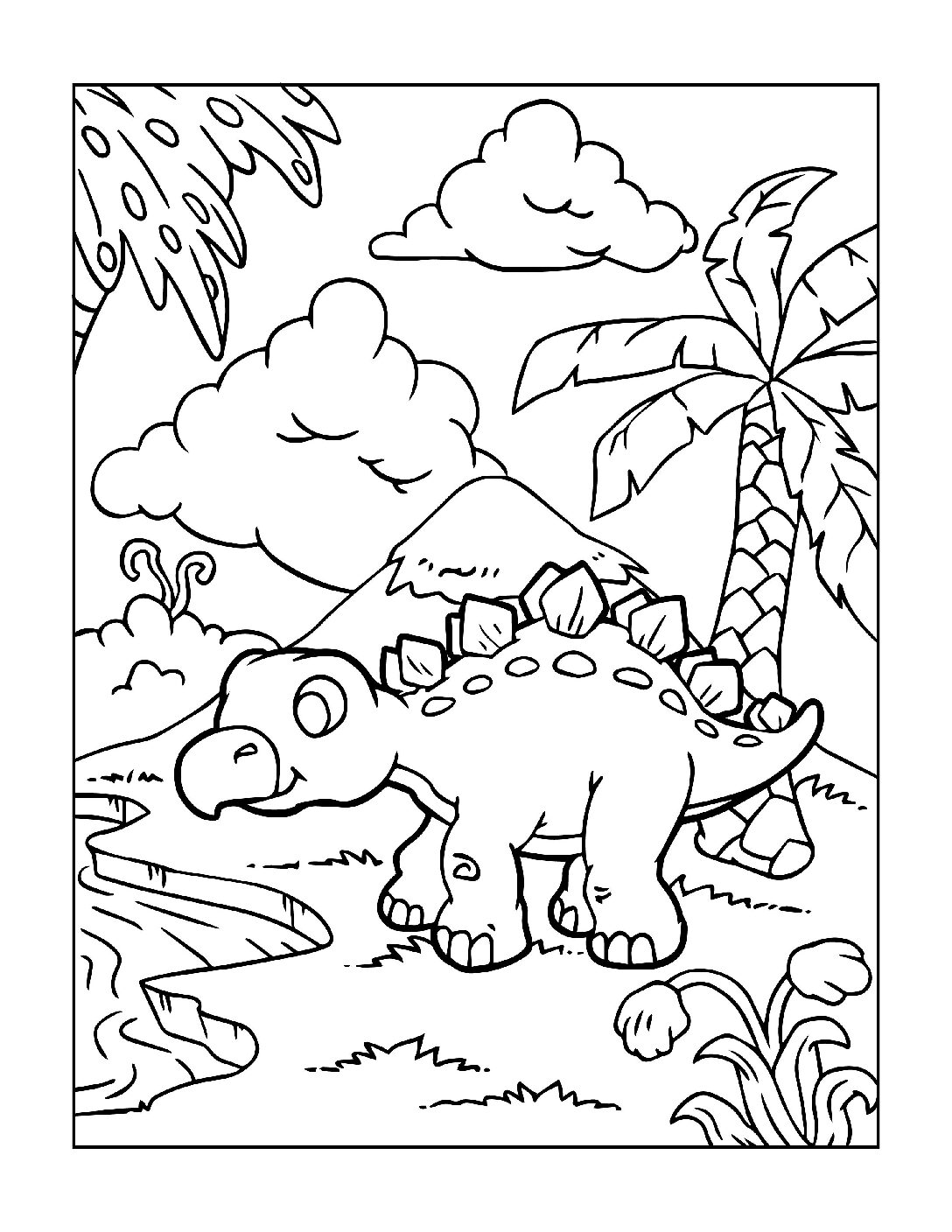 Coloring-Pages-Dinosaur-7-pdf Free Printable Dinasour Colouring Pages