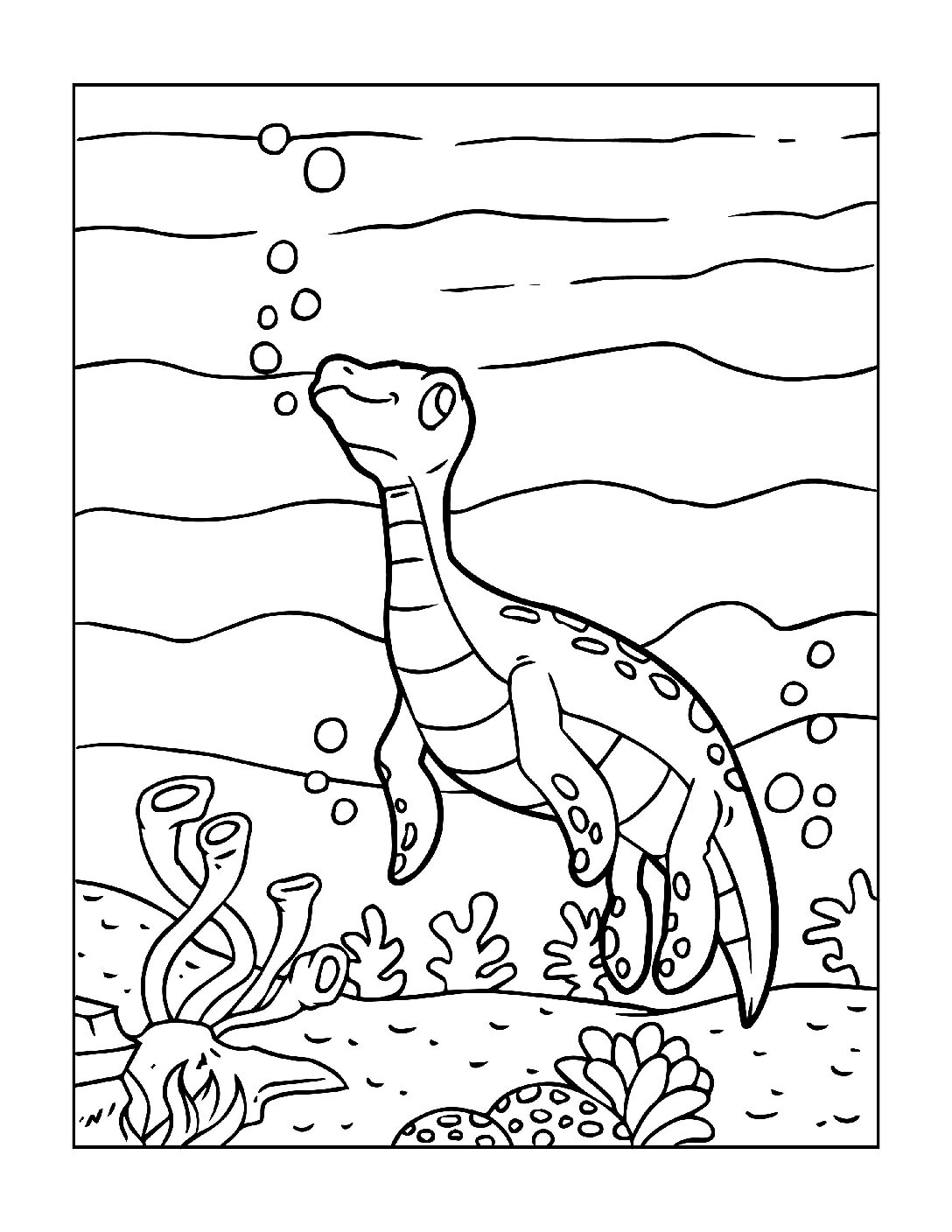 Coloring-Pages-Dinosaur-8-pdf Free Printable Dinasour Colouring Pages