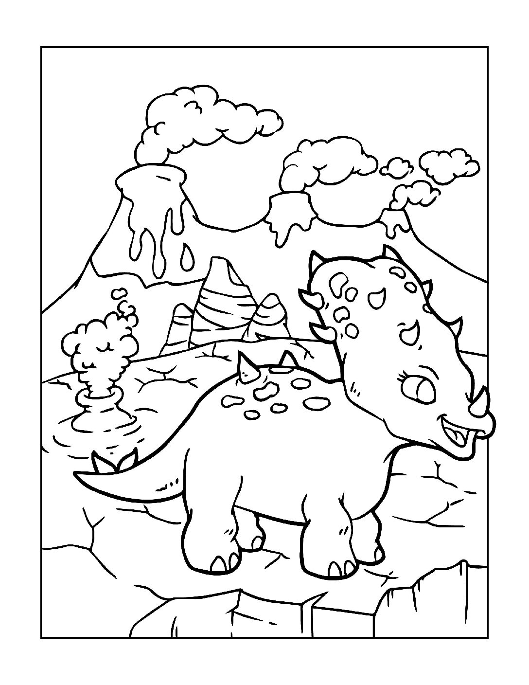 Coloring-Pages-Dinosaur-9-pdf Free Printable Dinasour Colouring Pages