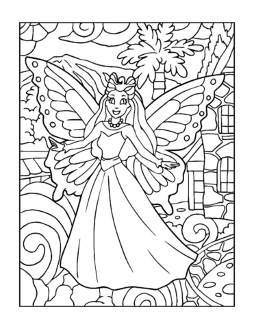 Coloring-Pages-Fairies-10-01-pdf-791x1024-640x480 Free Printable Fairy Colouring Pages
