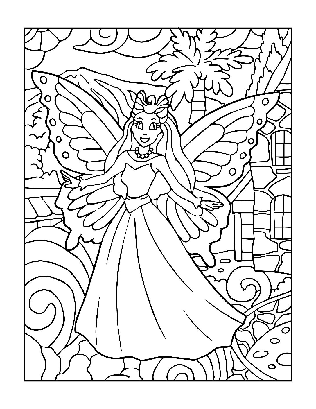 Coloring-Pages-Fairies-10-01-pdf Free Printable Fairy Colouring Pages
